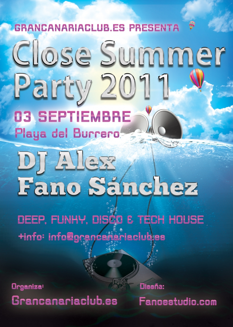 Fano Sánchez – Close Summer Party Septiembre 2011