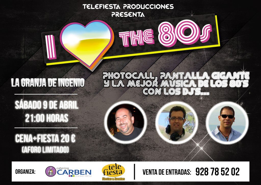 Video promocional Fiesta I Love The 80s 2013