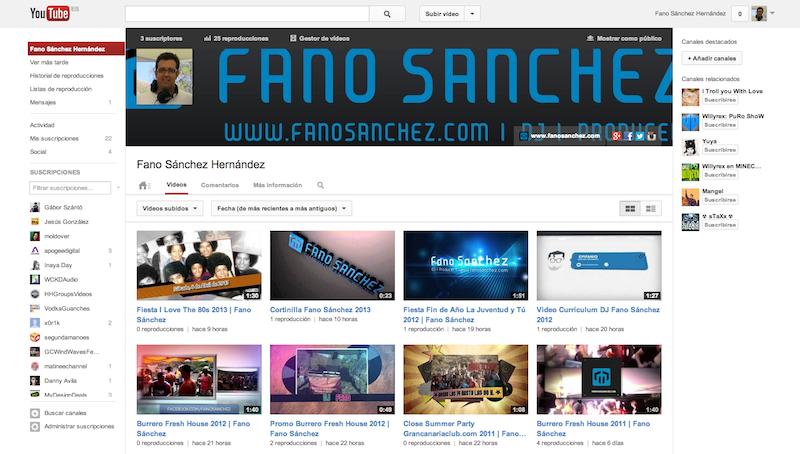 Ya tengo canal propio en Youtube
