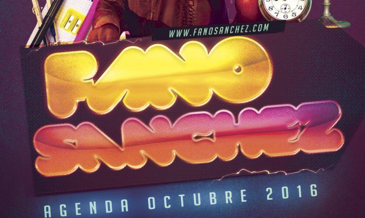 Fano Sánchez – Agenda Octubre 2016