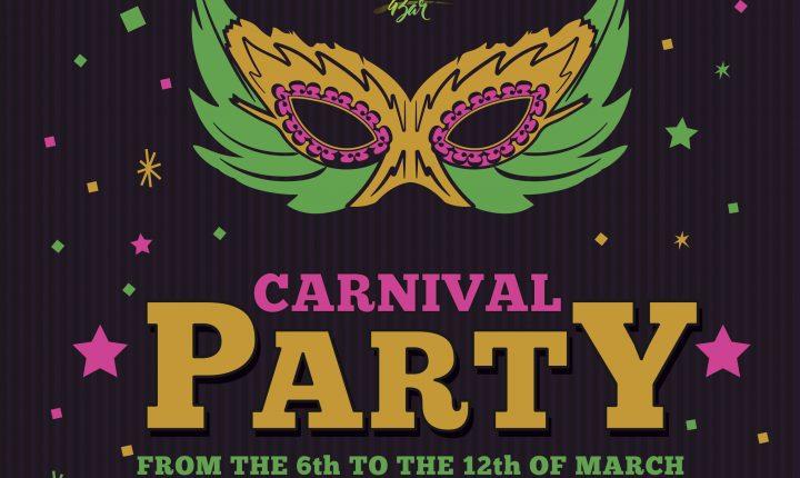 Carnival Party en Tipsy Hammock Bar