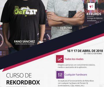 Curso de Rekordbox 16 y 17 de Abril de 2018 en Rec Crea