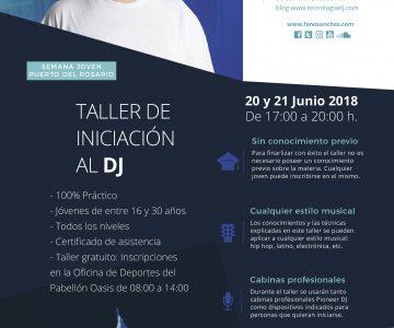 Taller de Iniciación al DJ en Puerto del Rosario (Fuerteventura)