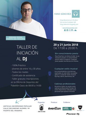 Taller DJ en Puerto del Rosario 21 Junio