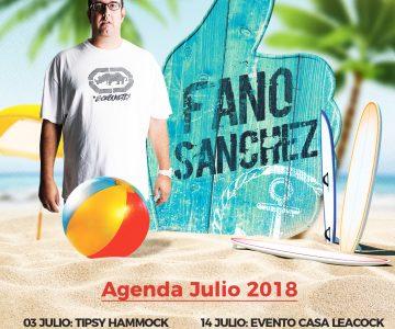 Fano Sánchez – Agenda Julio 2018