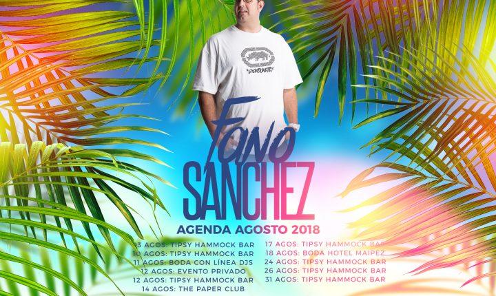 Fano Sánchez – Agenda Agosto 2018