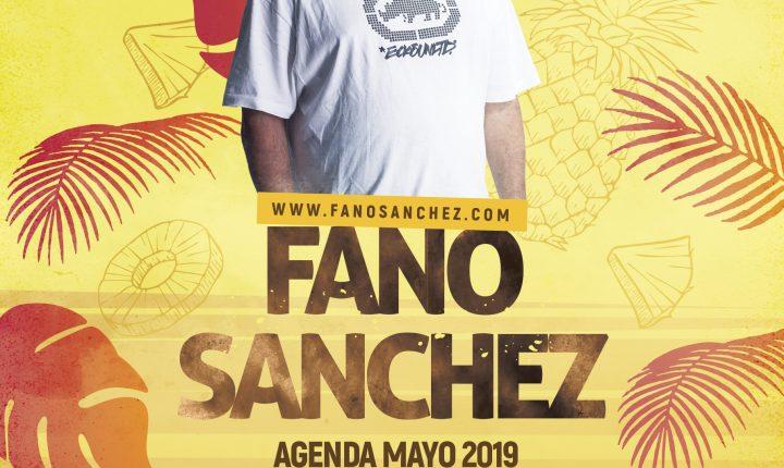 Fano Sánchez – Agenda Mayo 2019