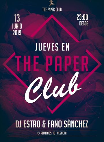 The Paper Club 13 Junio