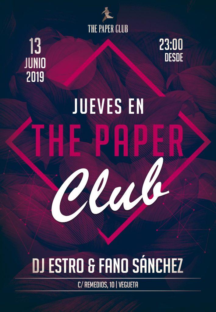 Cartel-The-Paper-Club-Fano-Sánchez-y-DJ-Estro-13-Junio-2019-web