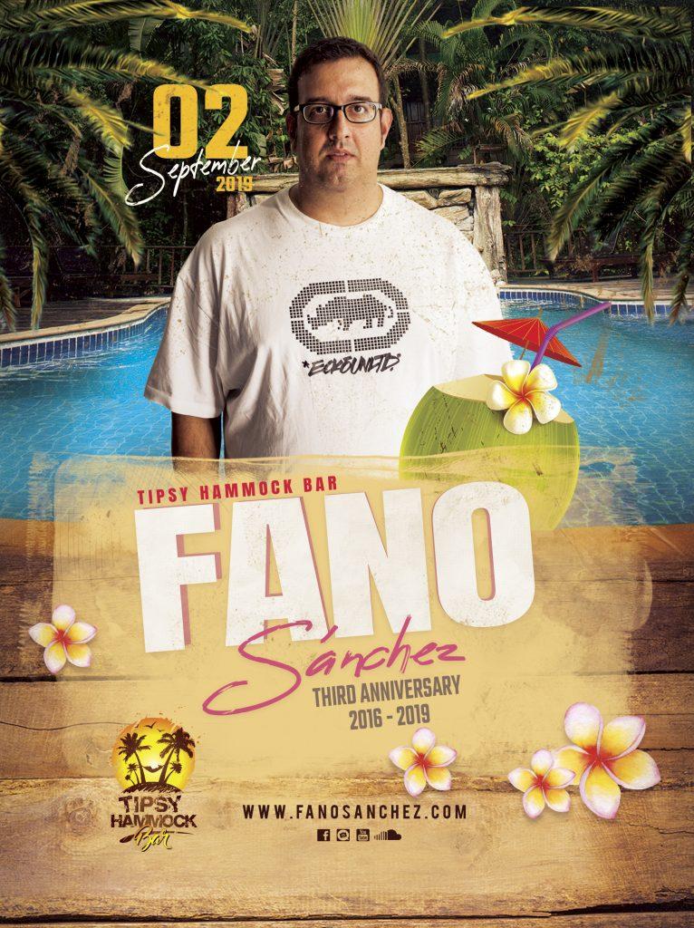 Cartel-3er-Aniversario-Fano-Sánchez-Tipsy-Hammock-Agosto-2019-web