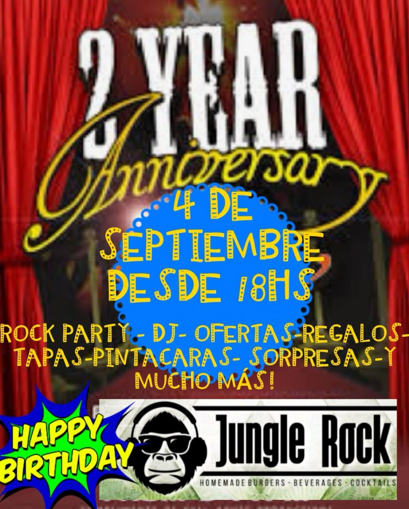 2 aniversario jungle rock mogan 4 septiembre 2019