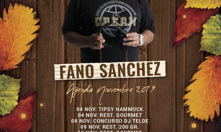 Fano Sánchez – Agenda Noviembre 2019