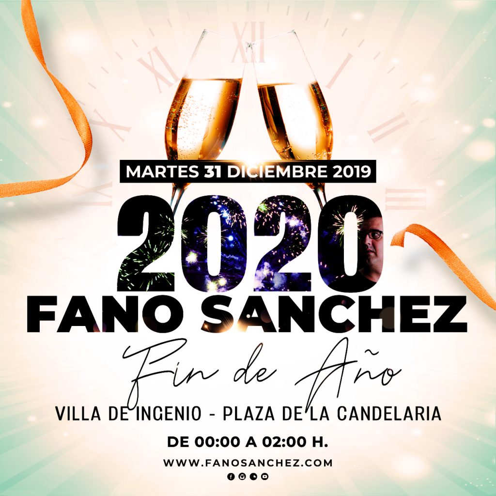 Cartel Fano Sánchez Fiesta Fin de Año 2019