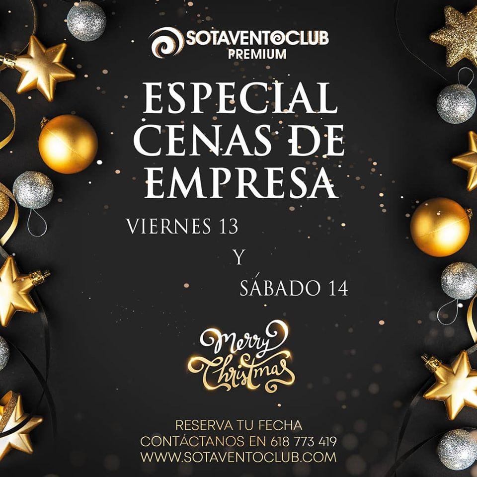 Sotavento Club Cenas Navidad 13 y 14 Diciembre 2019