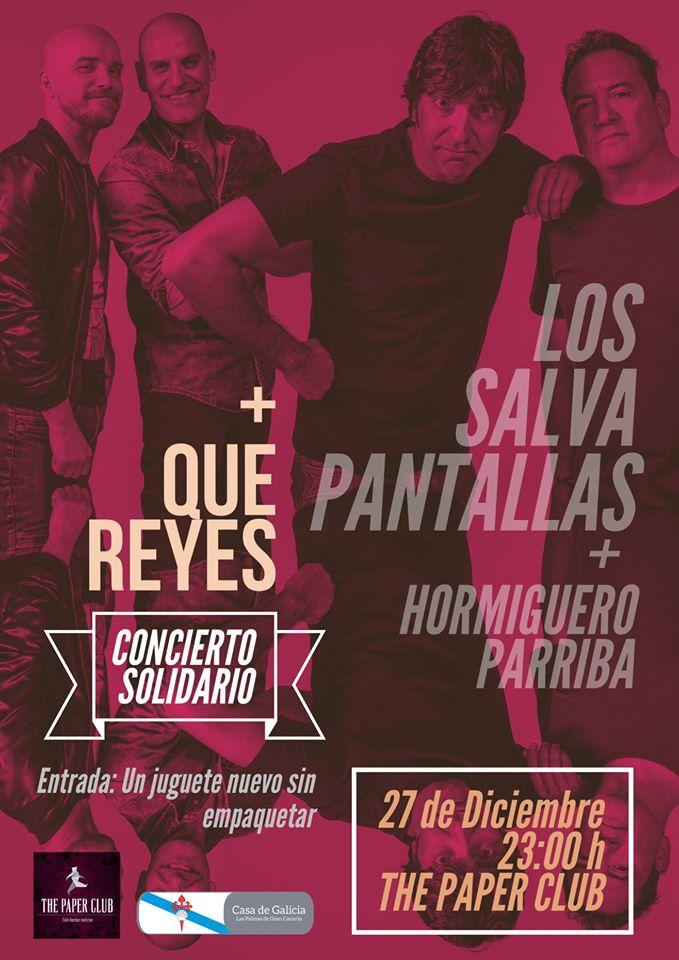 cartel concierto los salvapantallas the paper club 27 Diciembre 2019