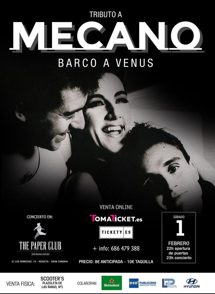 Tributo a Mecano The Paper Club 1 Febrero 2020