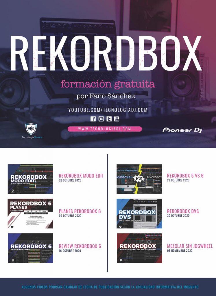 Cartel Videos Rekordbox Youtube TecnologiaDJ Septiembre 2020