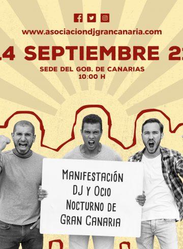 Manifestación DJ Gran Canaria