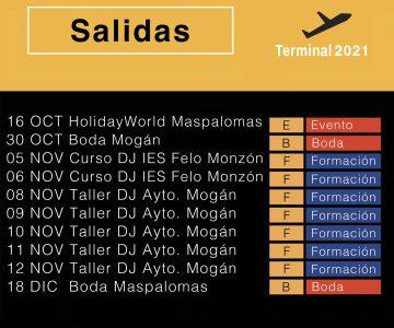 Fano Sánchez – Agenda Octubre y Noviembre 2021
