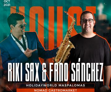 Riki Sax y Fano Sánchez HolidayWorld Maspalomas 23 Octubre 2021