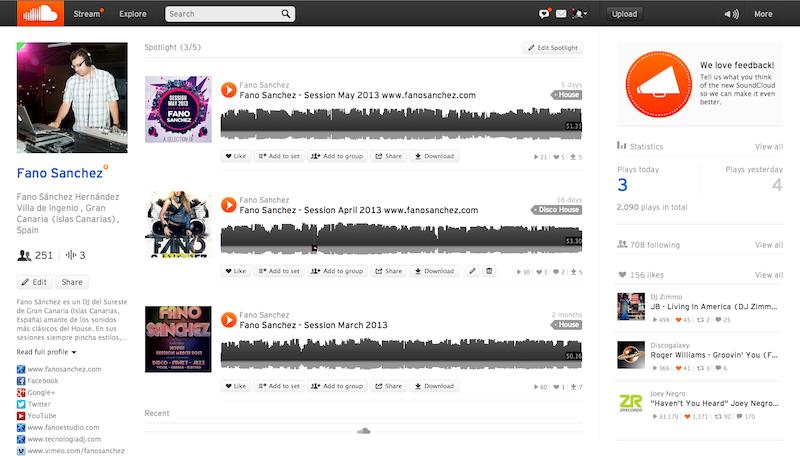 Ya voy por los 250 seguidores en Soundcloud