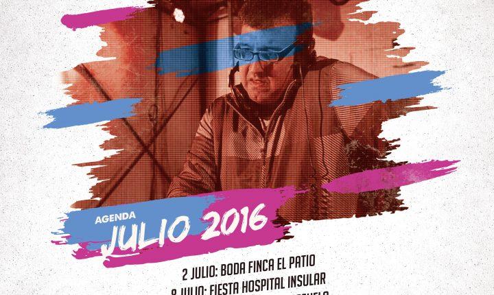 Fano Sánchez – Agenda Julio 2016