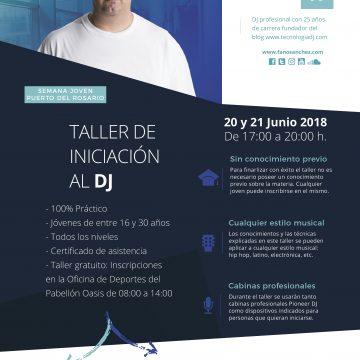 Entrevista Radio Sintonía – Taller Iniciación al DJ en Puerto del Rosario (Fuerteventura) Junio 2018