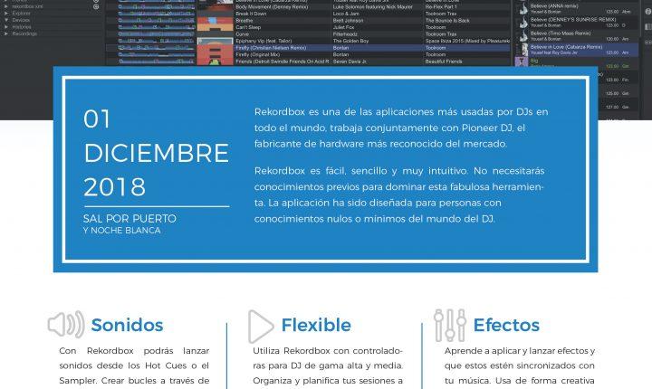 Taller de Iniciación al DJ con Rekordbox en Fuerteventura 1 Diciembre 2018