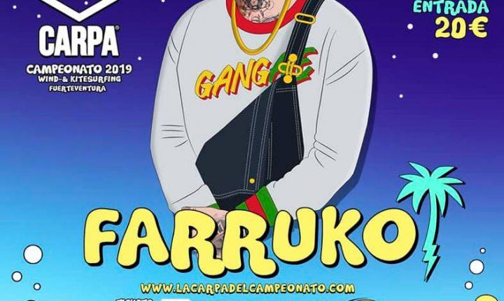 Fano Sánchez – Farruko en La  Carpa de Fuerteventura 2019